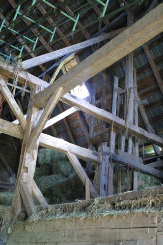 nterior of Patterson homestead barn