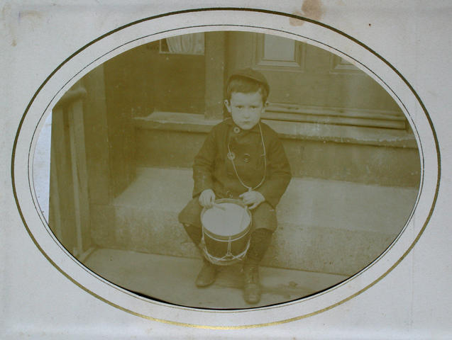 unidentified boy with drum