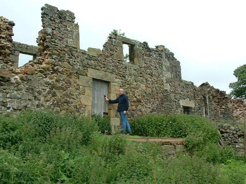 ruins of Biddlestone at Old Rookland Farm