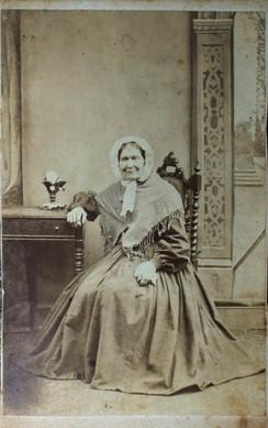carte de visite image of sister of John Stuart Thompson