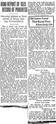 Road Report of 1860 Record of Progress