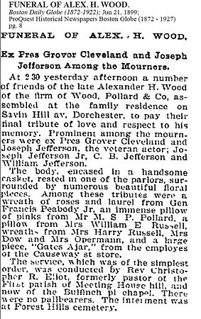 Funeral of Alex. H. Wood