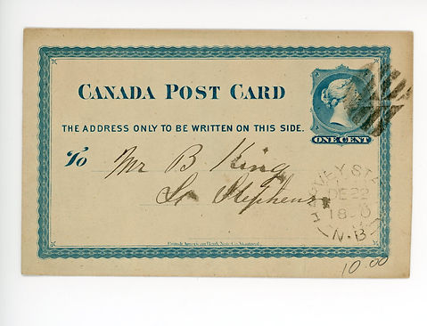 1880.12.22 Post Card Front