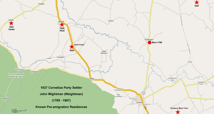 MAP OF Doddington, Northumberland