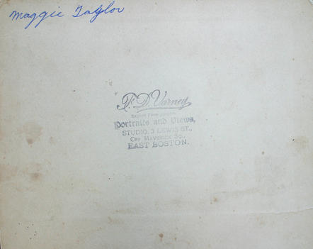 Back of undated family portrait photograph (2483)
