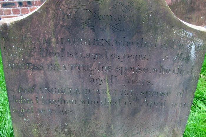 William Haughan Gravestone (Close-up)