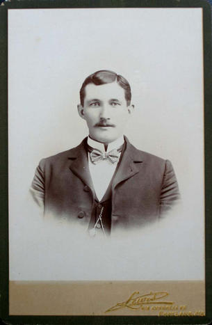 cabinet card of male subject