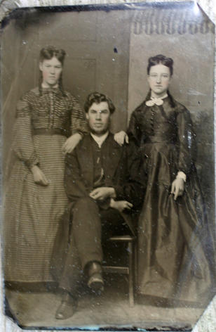 Rev. Dr. Andrew J. Mowat with Wife and Sister