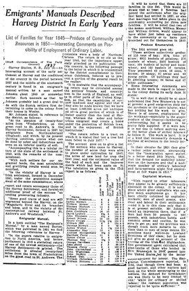 Emigrants' Manuals Described Harvey District In Early Years