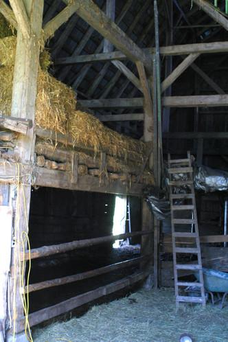 interior of Patterson homestead barn