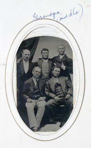 tin-type image of five men.