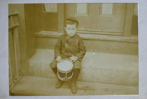 small boy with drum