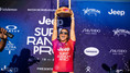 Johanne Defay e Filipe Toledo campeões do Jeep Surf Ranch Pro