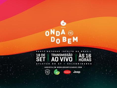 """""""Onda do Bem"""" It's ON: evento inédito de surf noturno da WSL vai acontecer nesta sexta no Brasil"""