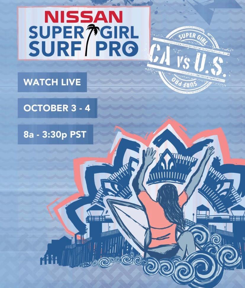Poster Nissan Super Girl Surf Pro