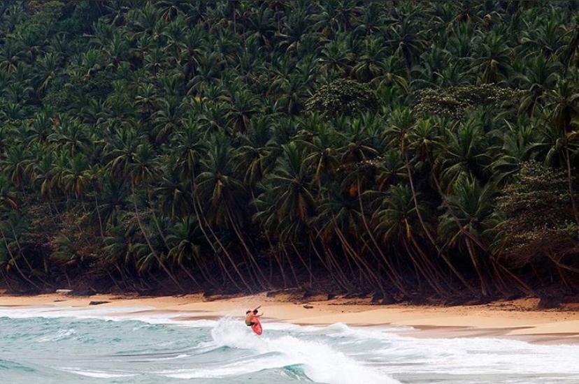 Pico de surf africano