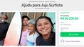 Juliana dos Santos, surfista profissional e oitava no ranking nacional, vive na linha da pobreza