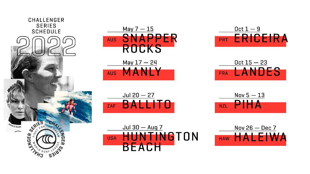 Calendário Challenger Series 2022