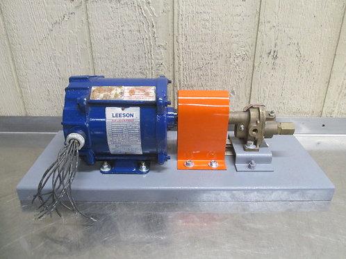 Oberdorfer 2000BR Bronze Gear Pump w/Relief Valve 4 GPM Max 1/3 HP Coolant Lube