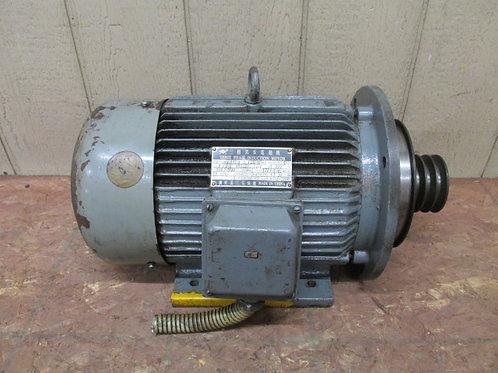 Kent Model KLS-1540 Lathe Drive Motor 6 HP 3 PH 220v Type YD132M-8/4 B35 TH
