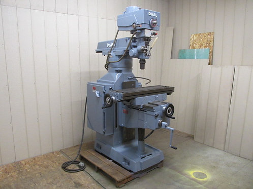 DoALL MV-3 Vertical Mill Milling Machine Variable Speed Dial 3 PH 220v 3 HP