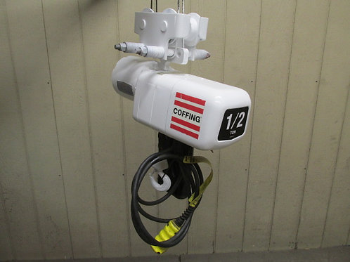 Coffing ELCET1016-3 Electric Chain Hoist 1/2 Ton 1000 Lbs 3 PH 230/460v 16 FPM