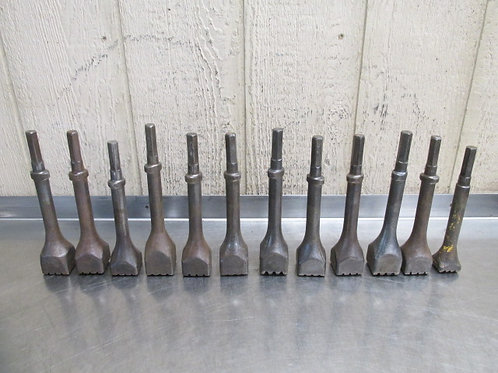 "12 Pneumatic Chipping Hammer Chisel Crusher Bits 9/16"" Hex Oval Collar Shank"