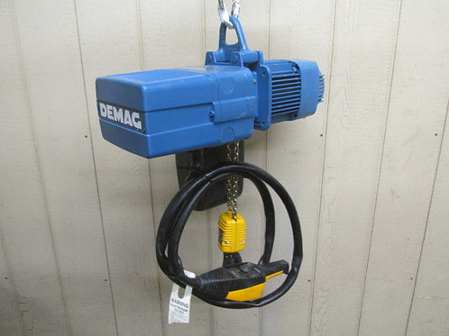 Demag DKUS-2-250-K-V1-F4 Electric Chain Hoist 1/2 Ton 1100 Lbs 3 PH 13' Lift