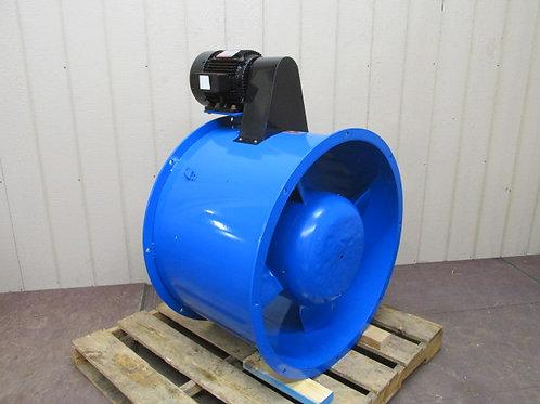 """Binks Model 30-4307 32"""" Centrifugal Blower Tubeaxial Exhaust Fan 3 HP 230/460v"""