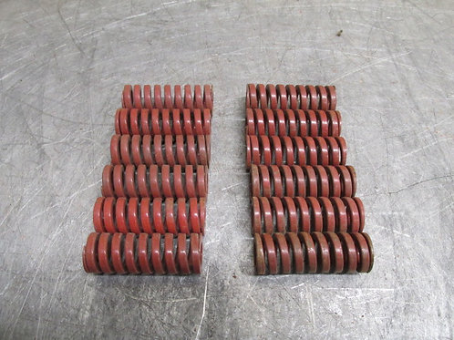 """Danly 9-1208-26 Red Die Spring 3/4"""" x 2"""" Heavy Duty Replacement Lot of 12"""