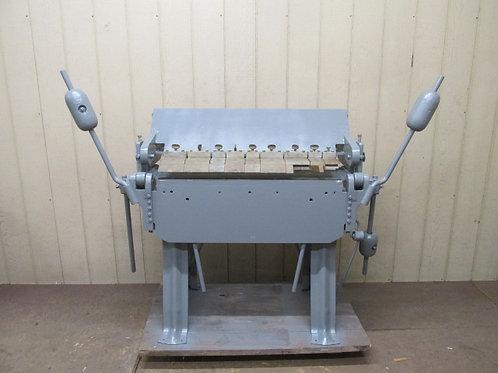 """Chicago Dreis & Krump W-38 Manual Metal Finger Box & Pan Brake 36"""" 14 Gauge"""