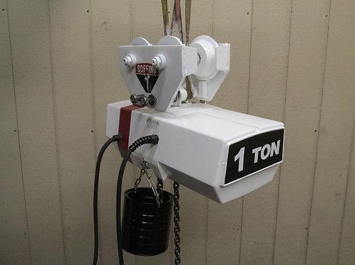 Coffing EC-2016-3 Electric Chain Hoist w/Trolley 1 Ton 2000 Lbs 12' Ft. Lift