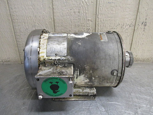 Leeson C1S4717WK15A 132201.00 Electric Washdown Motor 5 HP 1760 RPM 3 PH