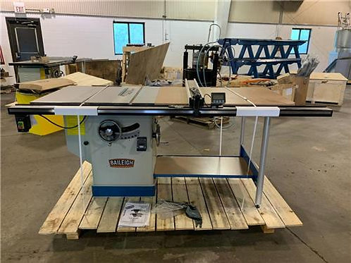 """2019 Baileigh TS-1248P-52 Woodworking Cabinet Table Saw 52"""" Max Cut w/DRO"""