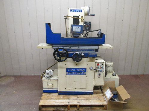 "1998 Clausing Equiptop CSG-3A818 Hydraulic Surface Grinder 8"" x 18"""