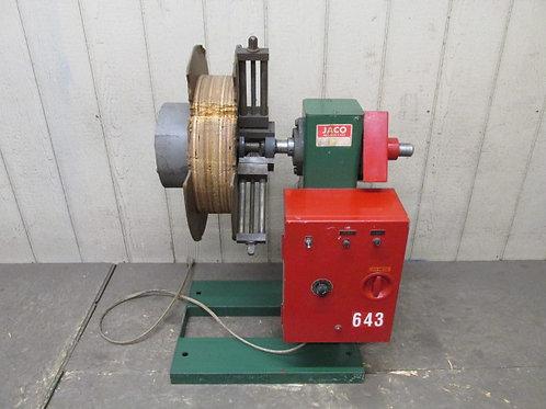 JACO JVRE-510-1-DC Coil Reel Power Uncoiler Vertical Stock 500 Lbs 110v 1 PH