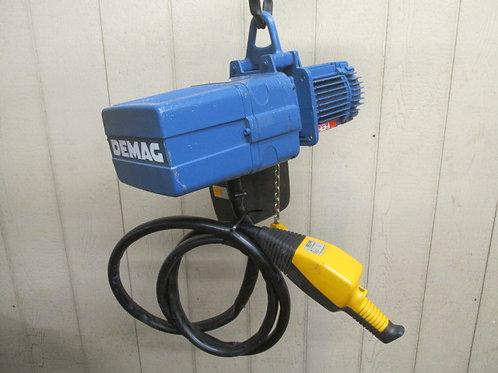 Demag DKUN-2-250-K-V1 Electric Chain Hoist 1/4 Ton 500 Lbs 3 PH 13' Lift