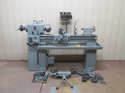 """Clausing 5914 Metal Lathe 12"""" x 36"""" 3 PH 3 & 4 Jaw Chuck Turret Collet Closer ++"""
