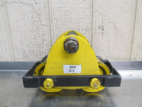 Yale 1/2 Ton Manual Overhead Electric Chain Hoist I-Beam Trolley