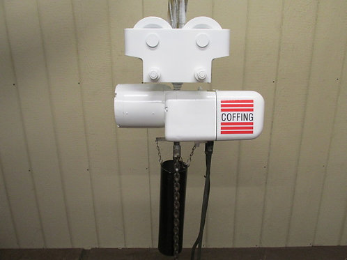 Coffing ELCT4008-3 Electric Chain Hoist Trolley 2 Ton 4000 Lbs 3 PH 12' Ft. Lift