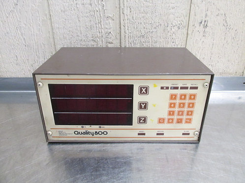 Quality Measurement Systems 800 DRO Display Digital Readout 3 Axis