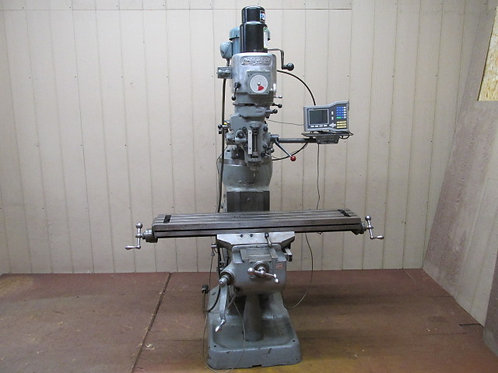 "Bridgeport Vertical Milling Machine J Head Mill 9"" x 48"" Variable Speed DRO 2 HP"