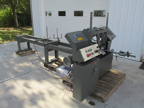 W.F. Wells W-9 Automatic Horizontal Bandsaw Band Saw Hydraulic Twin Post 9 x 18""