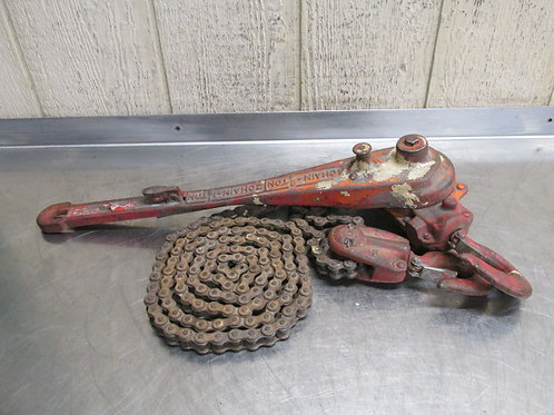 Coffing Manual Lever Roller Chain Hoist 3/4 to 1-1/2 Ton Come Along Puller 9' Ft