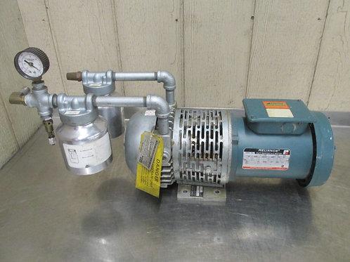 Gast 1067-V108 Rotary Vane Vacuum Pump 1/2 HP 3 PH 230/460v