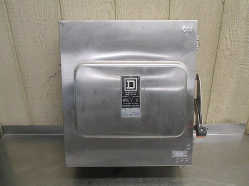 Square D HU662DS Stainless Steel Safety Disconnect Switch 60 Amps 600v Raintight