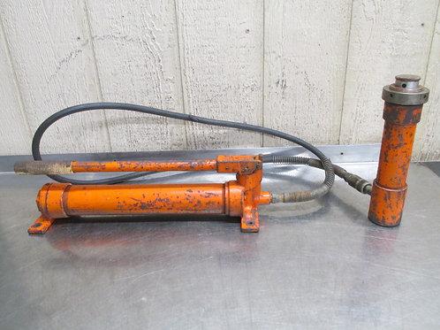Hydraulic Hand Pump Porta Power w/Cylinder Jack 10 15 Ton ?? Enerpac Blackhawk??