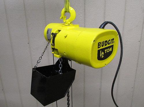 Budgit 309825-82 Electric Chain Hoist 1/2 Ton 1000 Lbs 3 PH 10' Ft. Lift