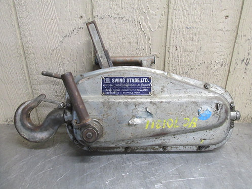 Swing Stage LTD. T-13 Tirmaster Manual Cable Wire Rope Hoist 3000 Lbs