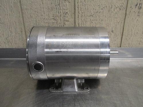 Leeson 117119.00 CZ6T17VK43A Stainless Steel Washdown Duty Electric Motor 1/2 HP